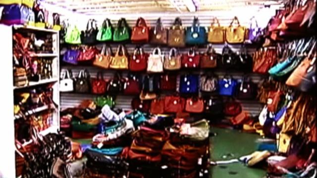Handbag rack, Ghurka store in New York City