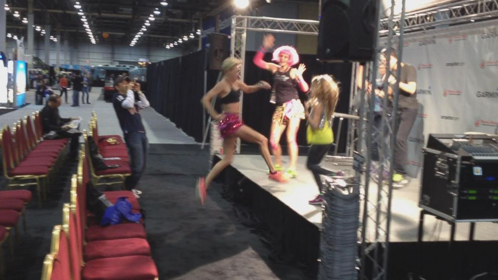 VIDEO: Suzy Favor Hamilton Jumps on Stage, Dances Moments Before Escort Identity Reveal