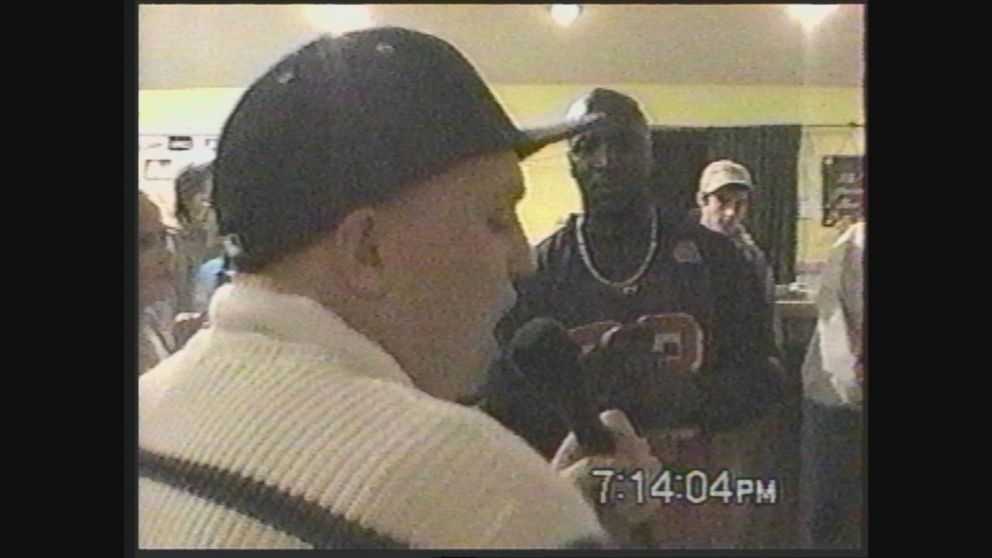 VIDEO: Jan. 4, 2002: Jeremy Frazier participates in a rap contest at The Juice Bar