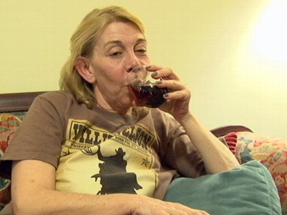 """VIDEO: Mother of three opens """"last bottle"""" says of family: """"These people aggravate me."""""""