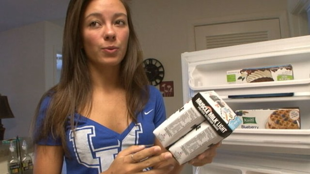 VIDEO: Eggs, protein shakes and lots of milk, a peek at the foods pageant queens keep on hand at home.
