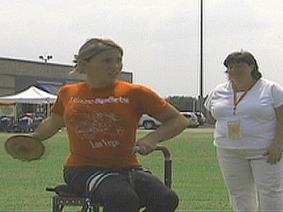 VIDEO: Stabbed and paralyzed as a child, Brittney Bergeron has a promising future.