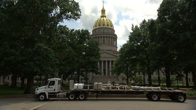 VIDEO: Lucky W.Va. Trucker Drives Flatbed to State Capitol for Unclaimed Money