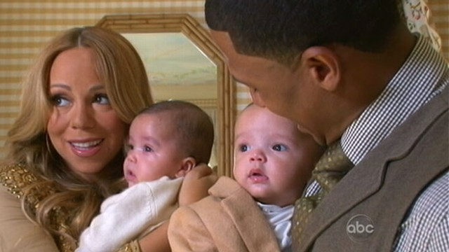 VIDEO: Barbara Walters with Mariah Carey, Nick Cannon and their twins.