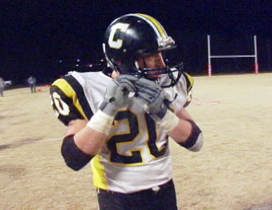 Photo: Shawn Grim, 18, is the star running-back for the Johnson Central Golden Eagles.