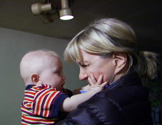 Photo: Diane Sawyer is shown here with one of the many children of the mountains.
