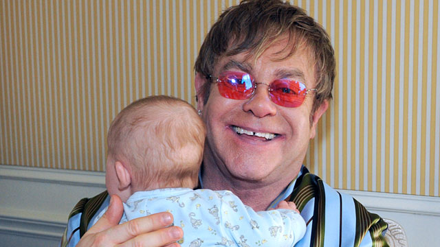 PHOTO: Proud fathers Sir Elton John and his partner David Furnish talk exclusively to Barbara Walters in their first major U.S. television interview since son Zachary was born.