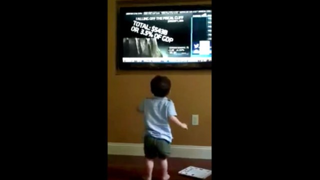 VIDEO: Little Boy Laughs at Fiscal Cliff