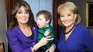 PHOTO Barbara Walters interviews former Vice Presidential candidate and Alaska Governor Sarah Palin for ABC News, Nov. 16, 2009.