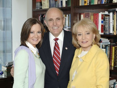 Rudy Guiliani, Judith Guiliani, Barbara Walters