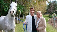 Barbara Walters with Patrick Swayze