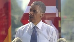 VIDEO: President Obama returns to Germany after five years, with noticeable differences.
