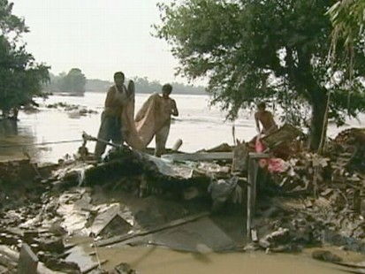 VIDEO: Monsoon rains unleash raging water in the countrys worst recorded floods.