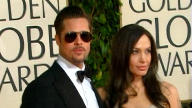 VIDEO: Angelina Jolie is mum about an inner-thigh tattoo that she says is meant for Brad Pitt.