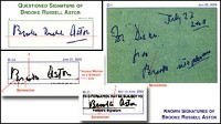 Photo: Brooke Russell Astor: Signature Under Scrutiny in Trial: Handwriting Experts Analyze Astor Signature On Third Codicil; One Expert Says: 'No Doubt That Is Not Brooke Astor's Signature'