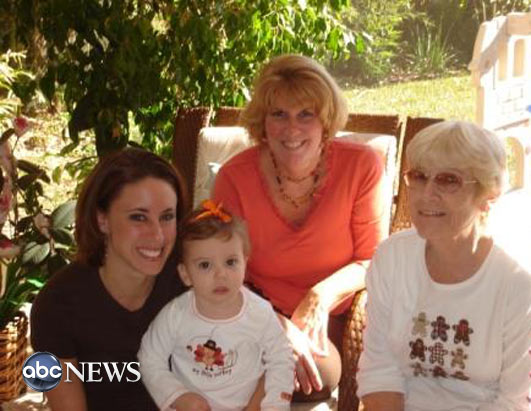 The Anthony family in 2007, from left, Caylee Anthony; her mother, Casey Anthony; her grandmother Cindy Anthony; and another female relative.