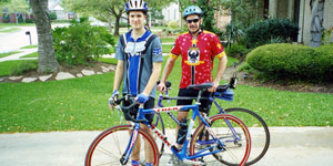 PHOTO Kent Whitaker, right, is shown with his son Bart. The two enjoyed going on bike rides, and appeared to have a close father-son relationship.