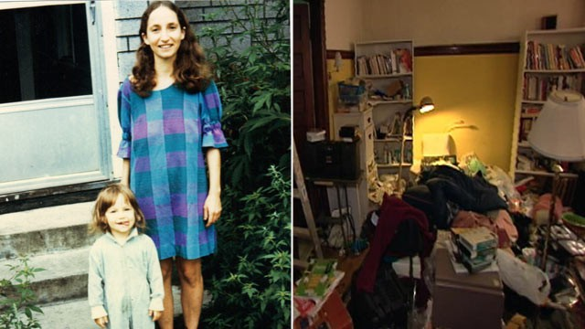 PHOTO:&nbsp;Jessie Sholl, as a young girl, poses with her mother, a hoarder whose home Sholl said she once felt compelled to clean.&quot;