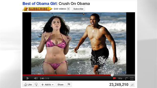 "PHOTO: The 2008 Presidential election saw its fair share of satire, but nothing was quite like the video of ""Obama Girl"" Amber Lee Ettinger professing her crush for then, Sen. Barack Obama in nothing but her teeny bikini."