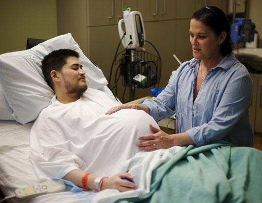Image result for pregnant man