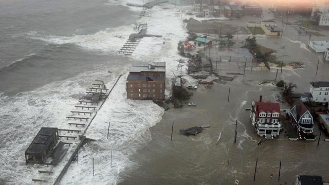 PHOTO: This photo provided by 6abc Action News shows the Inlet section of Atlantic City, N.J., as Hurricane Sandy makes it approach, Monday Oct. 29, 2012. Sandy made landfall at 8 p.m. near Atlantic City, which was already mostly under water and saw a pie