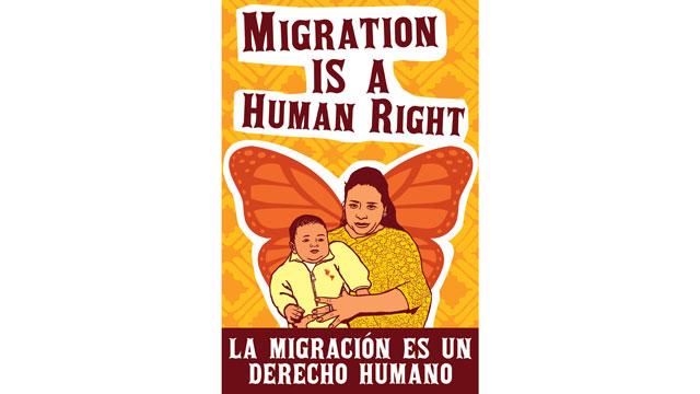 Artwork by Jesus Barraza and Melanie Cervantes of Dignidad Rebelde.