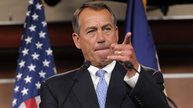 PHOTO:&nbsp;House Speaker John Boehner of Ohio
