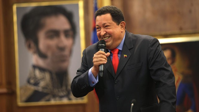 PHOTO: The 58-year-old former military officer Chavez won his fourth consecutive presidential bid Sunday and shows no signs of ballot fatigue.