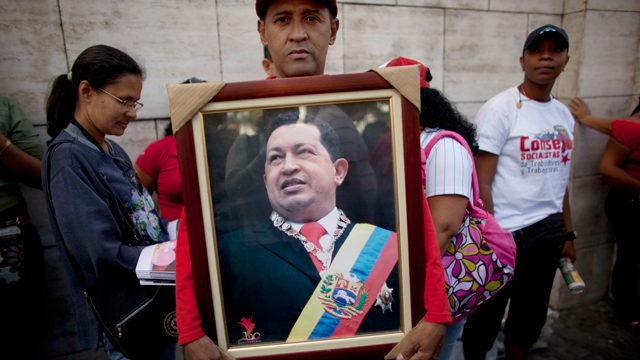 PHOTO: On Tuesday the Venezuelan government said that Chavezs medical treatment would prevent him from being sworn into office on January 10th, when he was scheduled to begin his fourth consecutive term in office.