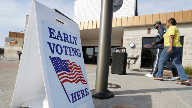 PHOTO: Early voting for the Nov. 6th election likely will set an Iowa record, as presidential candidates seek to lock-in votes in the battleground state.