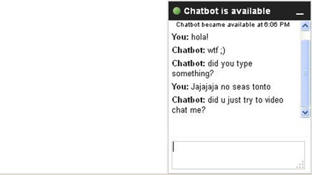 PHOTO:Awkward chat bot teaches us Internet jargon