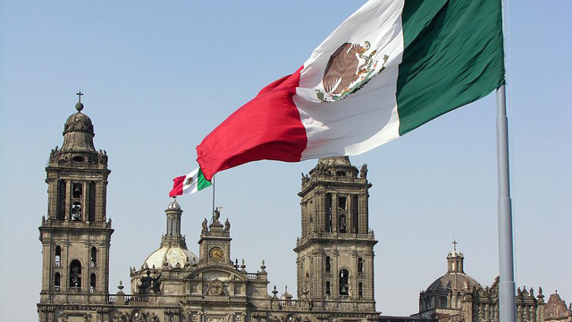 PHOTO:A zócalo is a central town square or plaza, usually located in Mexican cities. The most famous Zócalo is that of Mexico City. The government district of Mexico City is known after this. Zócalos were often the original central squares of Mesoamerica