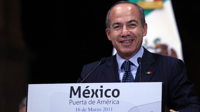 PHOTO: Harvard-bound: Former Mexican President Felipe Calderon is scheduled to being a one year long fellowship in Harvard later this month.