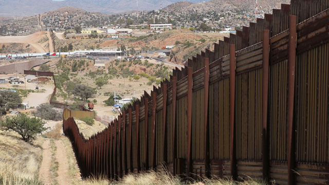 PHOTO: The wall that marks the separates the U.S. and Mexico, near Nogales, Arizona. What will humans say about this in a couple of centuries?