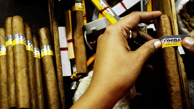 PHOTO: Cohiba Cigars have been handrolled in Cuba since the 1960s. But since the 1980s a U.S. company has also been selling Cohiba cigars that are made in the Dominican Republic.