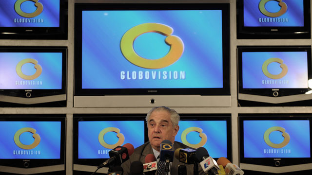PHOTO: Globovision owner Guillermo Zuloaga announced on Monday that he would sell his TV channel to Juan Domingo Cordero, an insurance tycoon with connections to the government. This is a file picture from November 18, 2009.