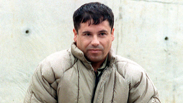 PHOTO: This 10 July, 1993, file photo shows drug trafficker Joaquin Guzman Loera el Chapo Guzman at the Almoloya de Juarez,maximum security prison in Mexico.