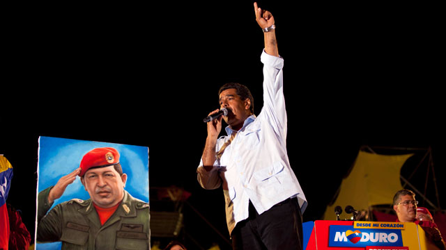 PHOTO:Nicolas Maduro won a special election to replace Venezuelas deceased president Hugo Chavez. Maduro was Chavezs handpicked heir. He relied heavily on the socialist leaders image throughout his presidential campaign.