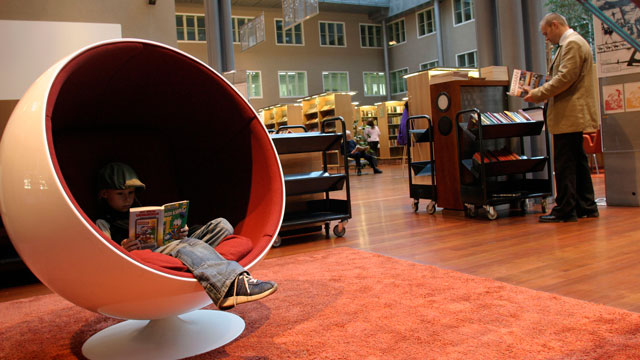 PHOTO: A library in Helsinki, Finland has one of the world's top education systems.