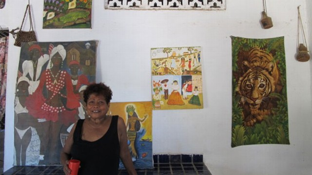 Marina Guerrero paints and writes songs about what it means to be black in theCosta Chica