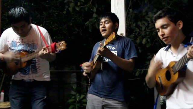 Young people in Veracruz, Mexico play son jaracho, a traditional, regional style of music.