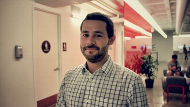 PHOTO: Alberto Cantor recently attained a masters in digital marketing from the Hult International Business School.  He could've tried to register to vote at the Venezuelan consulate in San Francisco. But he decided to keep his spot at a Caracas voting ce