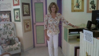 PHOTO: Maria Nevett is Elizabeth's aunt.  She has been living in Cartagena for the past two years, where she owns a popular ice cream shop.