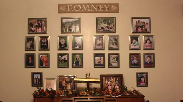 PHOTO:&nbsp;Mitt Romney's Mexican cousins decorate the walls of their homes with portraits of family members. The candidate's relatives say that Romney's roots in Mexico have made this a special election for them.