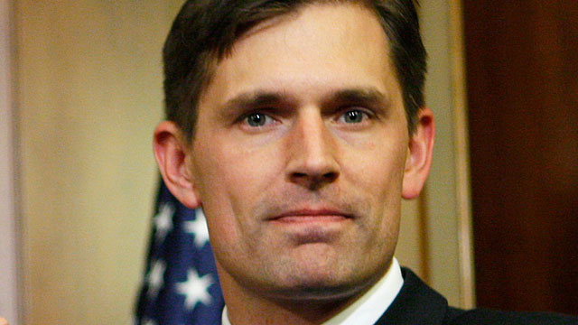 PHOTO: This Jan. 6, 2009, file photo shows Senate candidate, Rep. Martin Heinrich, D-N.M., during during a mock swearing in on Capitol Hill in Washington.