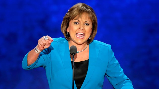 PHOTO:&nbsp; New Mexico Governor Susana Martinez addresses the Republican National Convention in Tampa.