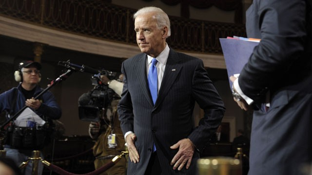 PHOTO:&nbsp;Vice President Joe&nbsp;Biden leaves the Old Senate Chamber on Capitol Hill in Washington, Thursday, Jan. 3, 2013, after participating in mock swearing-in ceremonies for senators as the 113th Congress began.