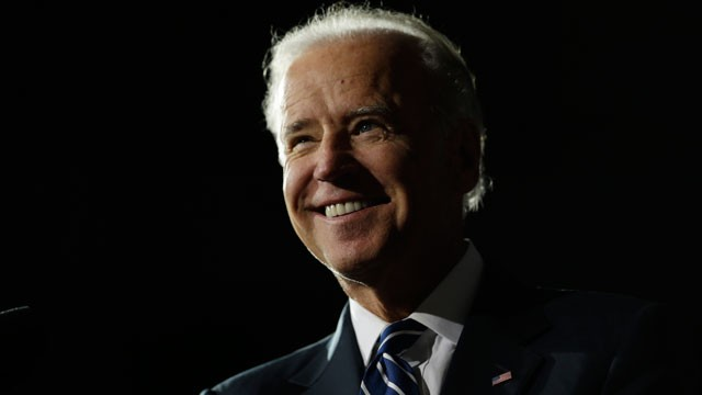 Vice President Joe Biden smiles during a campaign rally at the Covelli Centre, Monday, Oct. 29, 2012, in Youngstown, Ohio.