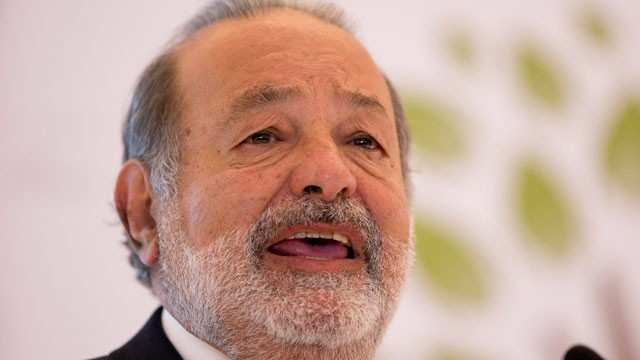 PHOTO: In a Monday, Jan. 14, 2013 file photo, Mexican telecommunications tycoon Carlos Slim speaks at the Soumaya museum in Mexico City. Forbes magazine said on March 4, 2013, that Mexico's Carlos Slim remains the world's richest man.