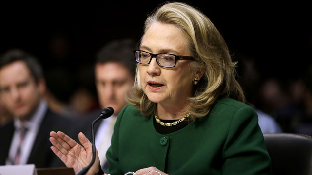 PHOTO: Secretary of State Hillary Rodham testifies on Capitol Hill in Was